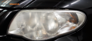 Autokoplamp polijsten na nat schuren met P1500